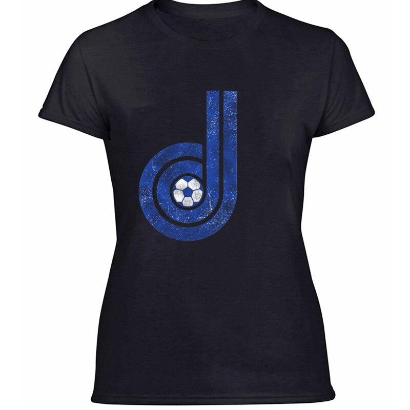 Camiseta de punto divertida Casual Denver Dynamos para mujeres 100% gráfico de algodón impresionantes camisetas de Caballero de manga corta Hiphop Top