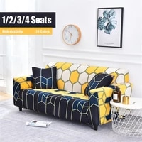 geometric sofa cover floral sofa towel for living room plaid leaves couch slipcover striped printed elastic couch cover