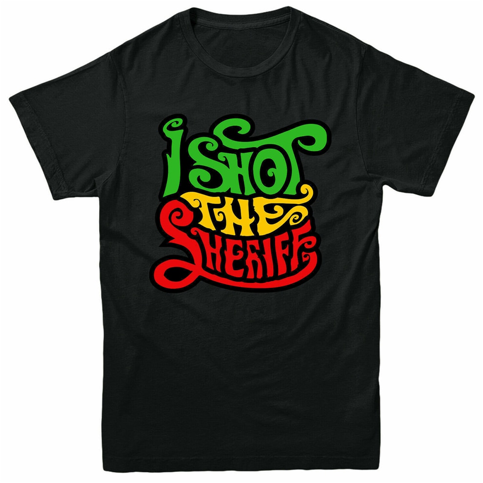 Футболка с надписью «I Shot The Sheriff» футболка с короткими рукавами для взрослых и детей с изображением певца Боба Марли