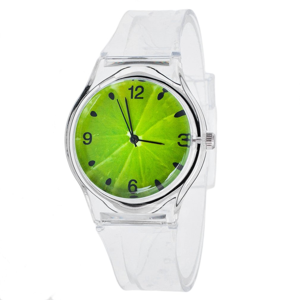 Teen Quartz Watches Multi-colors Luminescent Personality Fruit Print Silicone Atmospheric Fashion Bo