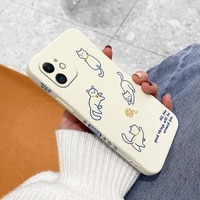 lucky cat pattern phone case for iphone 12 pro max 11 x xs xr xsmax se2020 8 8plus 7 7plus 6 6s plus liquid silicone cover