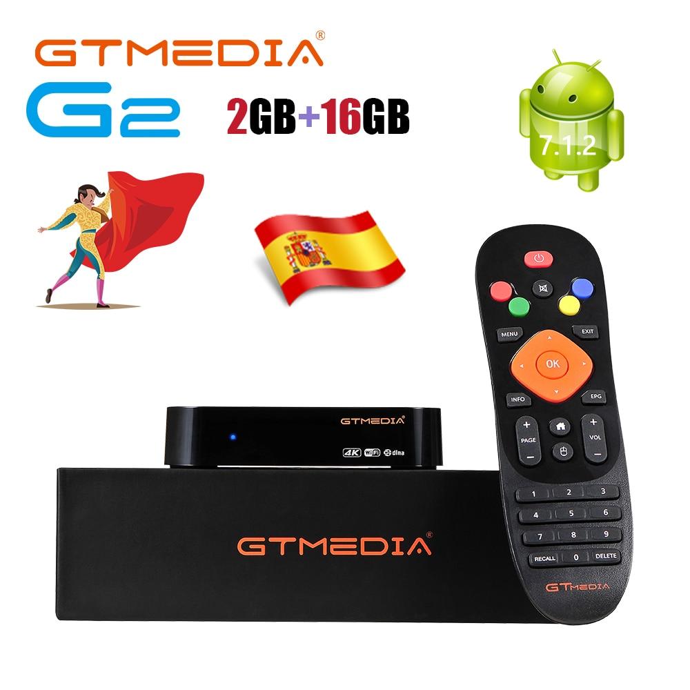 GTMEDIA G2 Android 7.1 2G 16G TV BOX Smart Set top Box 4K Google Video TV Receiver Wifi TV Box Support HDCP Watch Netflix in HD