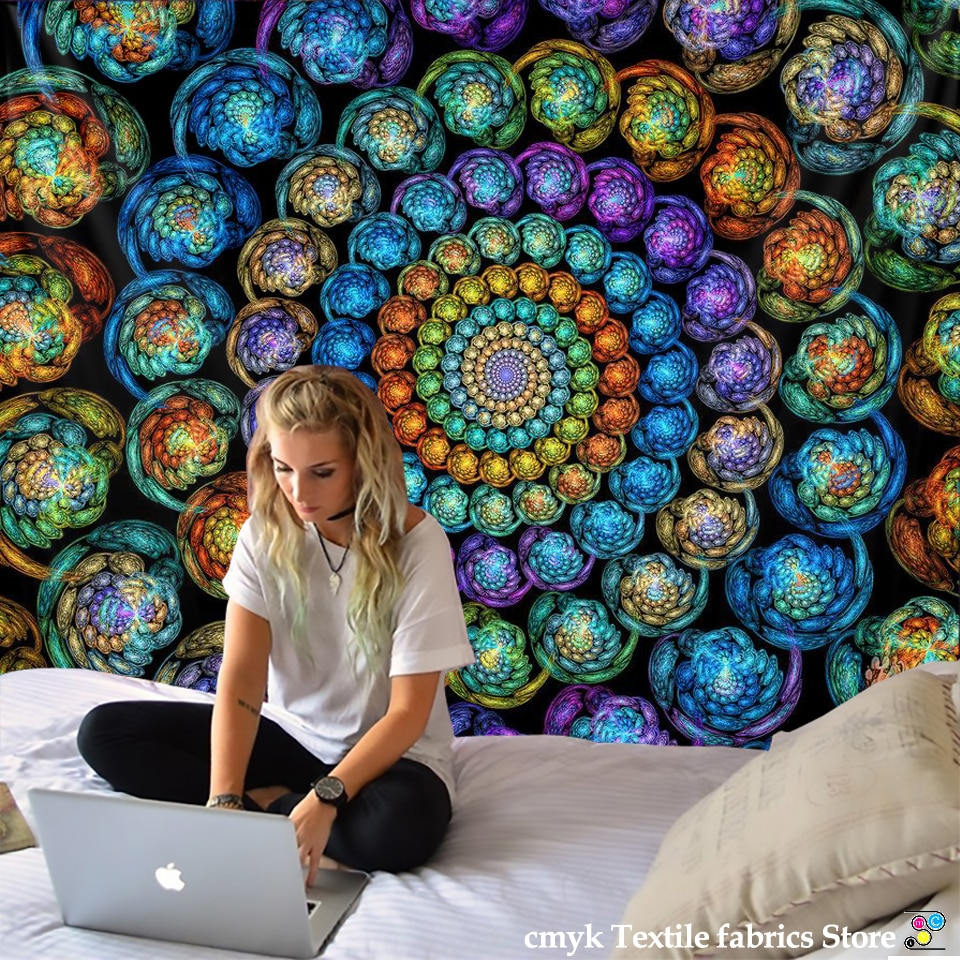 AliExpress - Indian Wall Hanging Tissu Boheme Mandala Tapestry 3D Jade Home Decor Living Room Background Wall Carpet Cloth Hippie Blanket