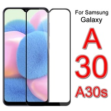 2Pcs Tempered Glass for Samsung A30s 2019 A 30s A307F A307 SM-A307F Safety Screen Protector Cover on