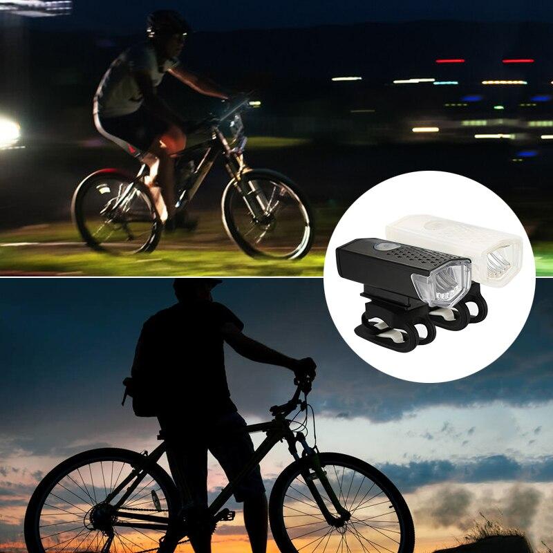 Luz LED de seguridad para bicicleta de 3W, recargable vía USB, Luz Portátil de advertencia para ciclismo, luz parpadeante