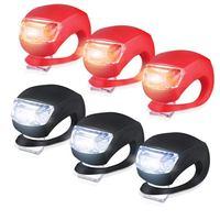 Светильник онарь для велосипеда, набор из 6 светодисветильник Дов (3 светодиода белого и 3 светодиода красного цвета)