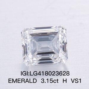 3,15 карат H Цвет VS1 чистота иги сертификат изумруд CVD лабораторный Выращенный алмаз