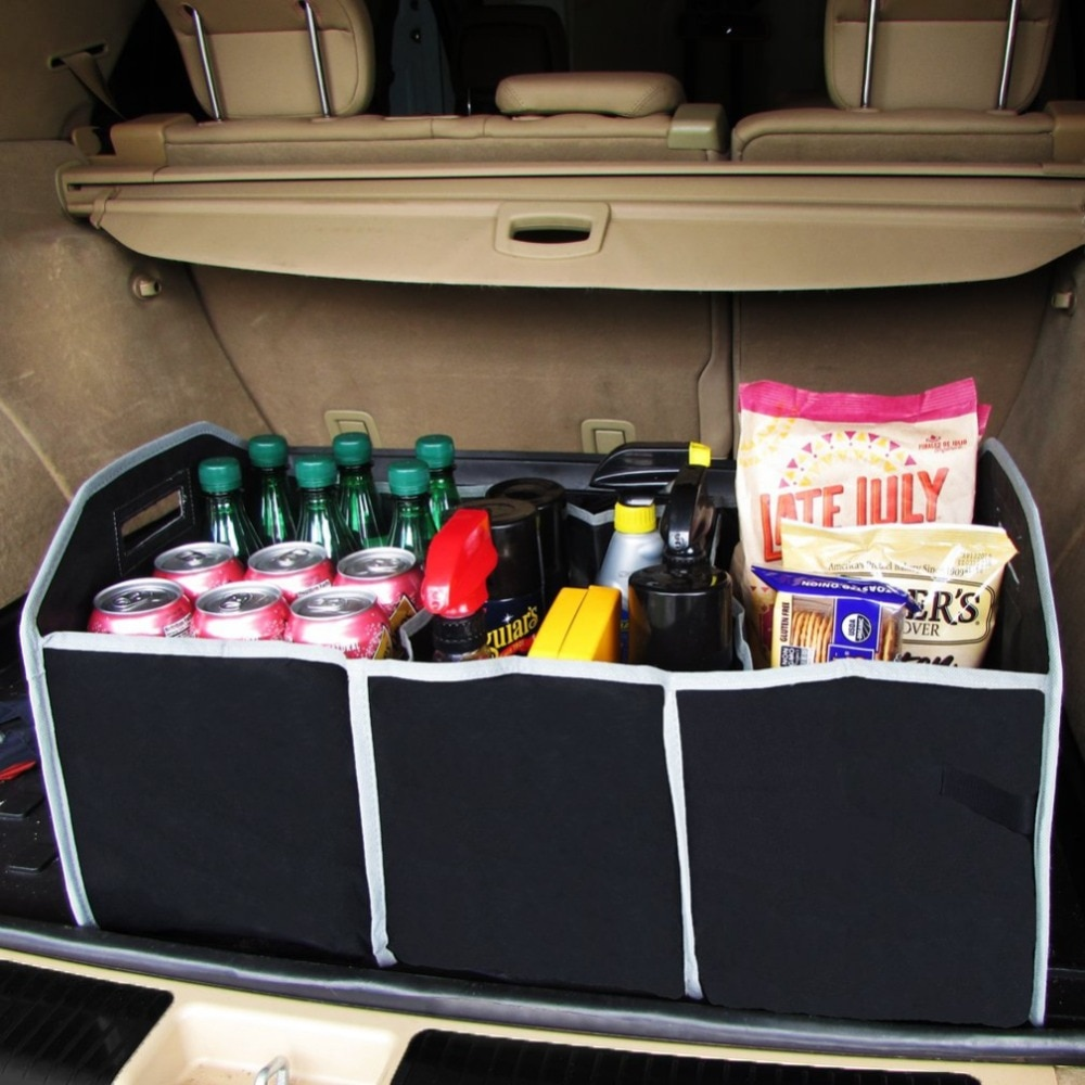 Hot Trunk Organizer Storage Bin Bag Collapsible Fold Grocery Caddy Car Truck Auto