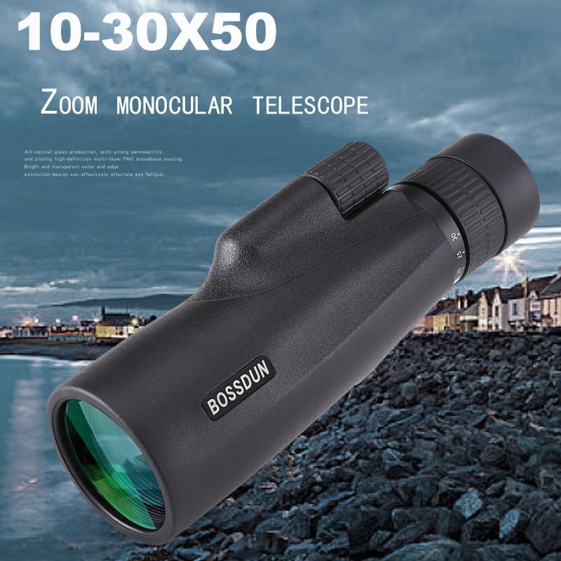 Monocular Zoom 10-30×50 Times High-Definition Telescope Hunting Practical Equipment For Travel Monoculars