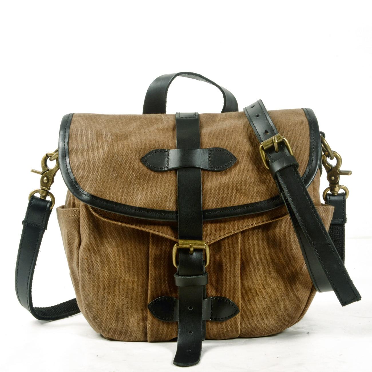 Ami Kakji bolso de mensajero Retro americano, bolso de lona Casual, bolso de hombro/bandolera, bolso de hombre, bolso de moto con sobrepeso
