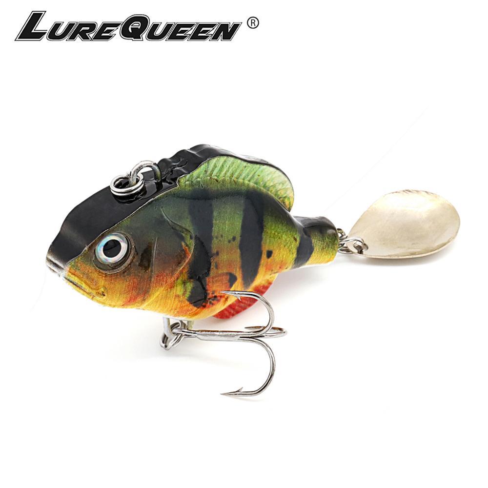 VIB Fishing Lures vivid Vibrations Spoon Lure Fishing bait Bass Artificial Hard Bait Cicada lure VIB Bait 3D Eyes