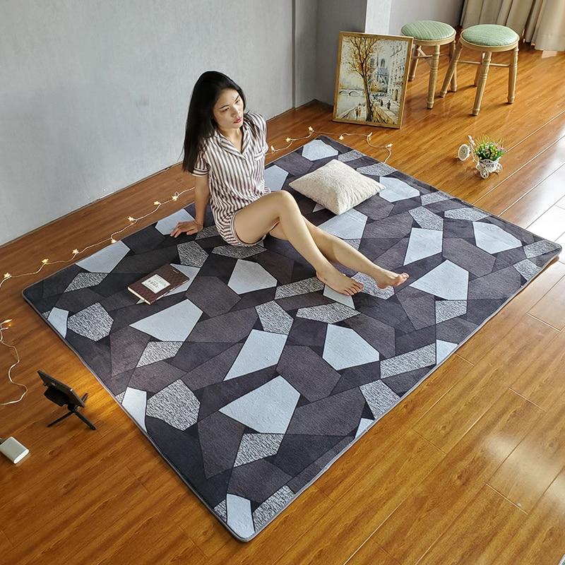 Baby game pad Nordic Living Carpet Bedroom Mats Net Red Living Room rug Coffee Table mat Soft skin-friendly mat anti-slip carpet