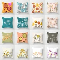 fashion pillowslip abstract painting dandelion pillow case 4545cm cushion cover soft throw pillows cover comfort home supplies