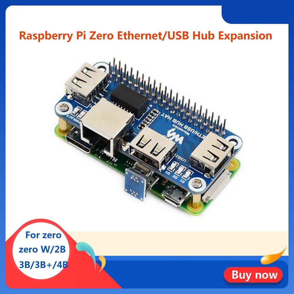 Frambuesa Pi Zero W Hub USB sombrero con RJ45 puerto Ethernet para RPI zeroW/WH /2B/3B/3B +/4B