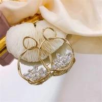 fyuan korean style round zircon crystal drop earrings for women geometric earrings party jewelry gifts