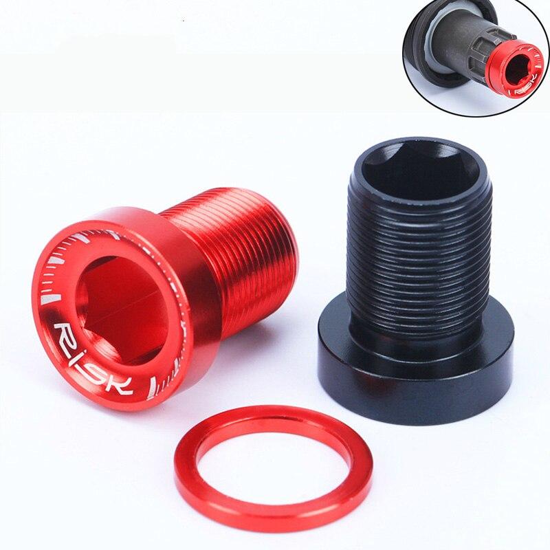 Tornillos de soporte inferior estriado de aleación de aluminio M15 * 19MM, tornillos de soporte inferior para bicicleta de montaña resistentes al agua, 2 uds.