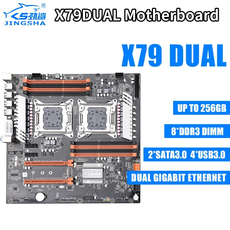 For mining CHIA Dual E5 2690 CPU 8x8GB 64G 1600Mhz DDR3 ECC X79 Dual CPU LGA2011 Motherboard Set Support M.2 NVMe SATA3 USB3.0