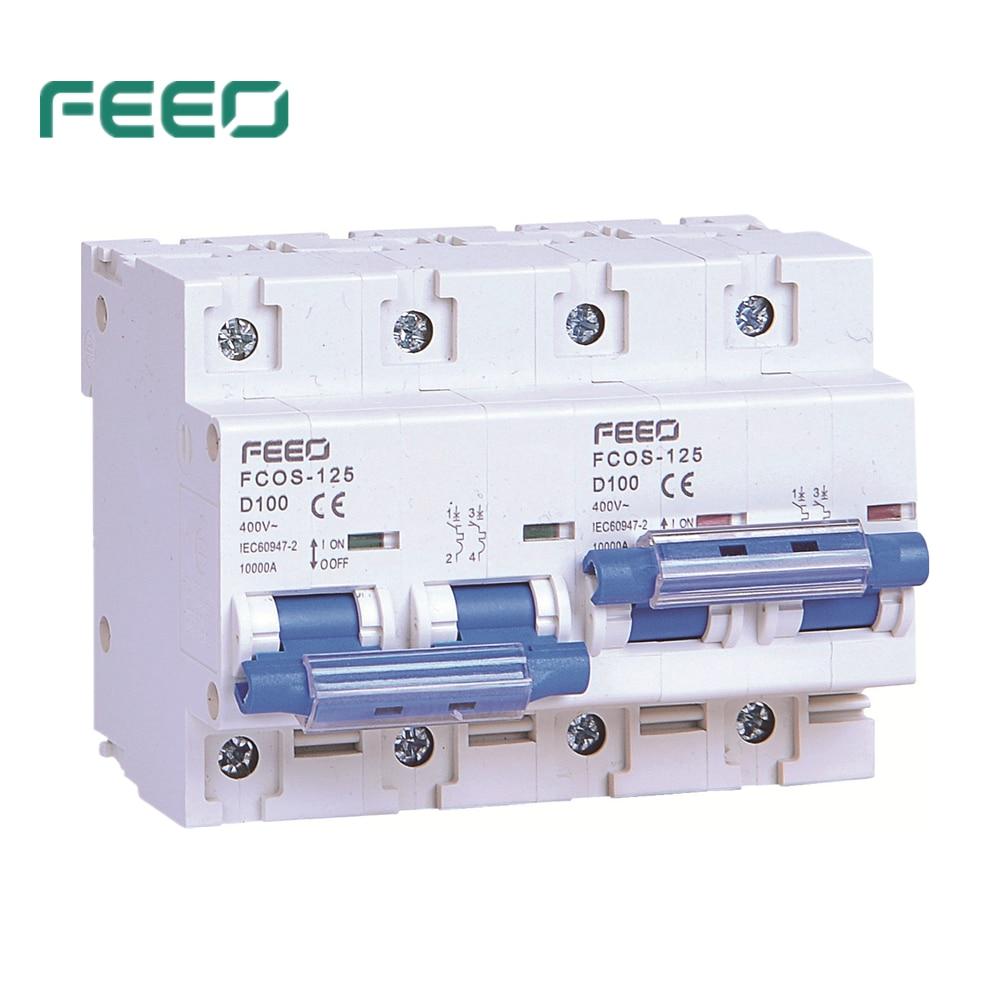 قاطع دائرة التعشيق FEEO 2P 2P 100A AC, مفتاح تحويل يدوي مزدوج الطاقة MTS