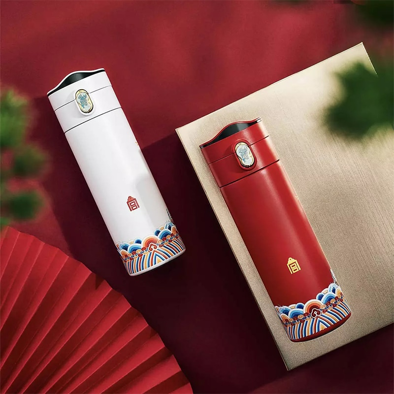 From Xiaomi Youpin Tea Thermos Bottle Cup 380ml Temperature Display Portable 304 Stainless Steel Thermal Bottle enlarge