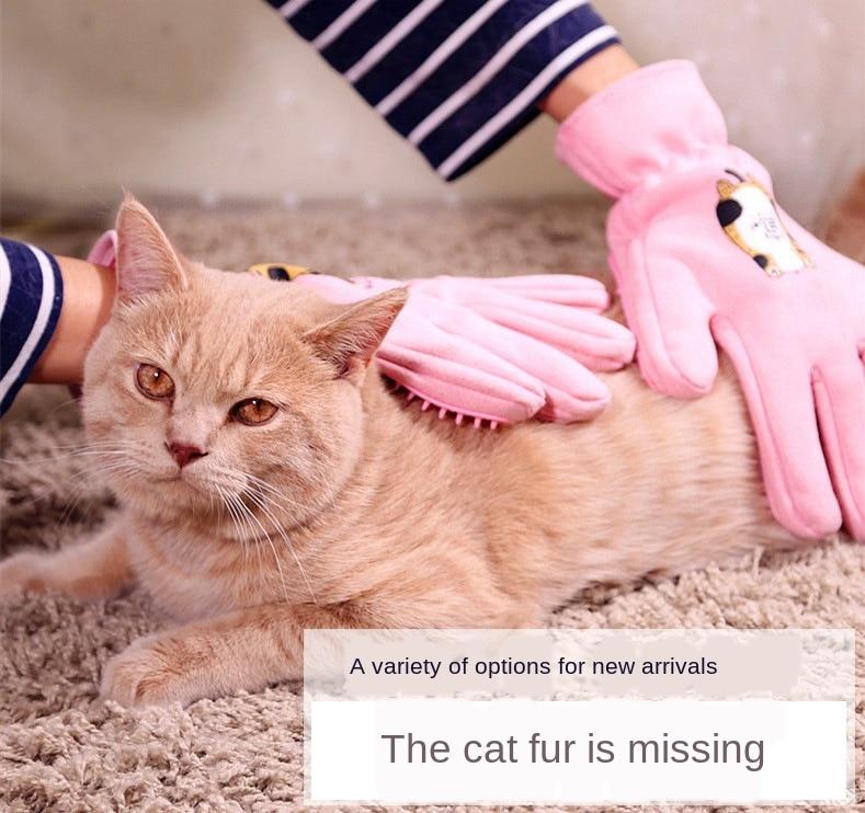 Luvas da Remoção do Cabelo Luvas do Gato e do Cão Limpeza e Beleza Pente da Massagem do Silicone Fornece Banho Pet