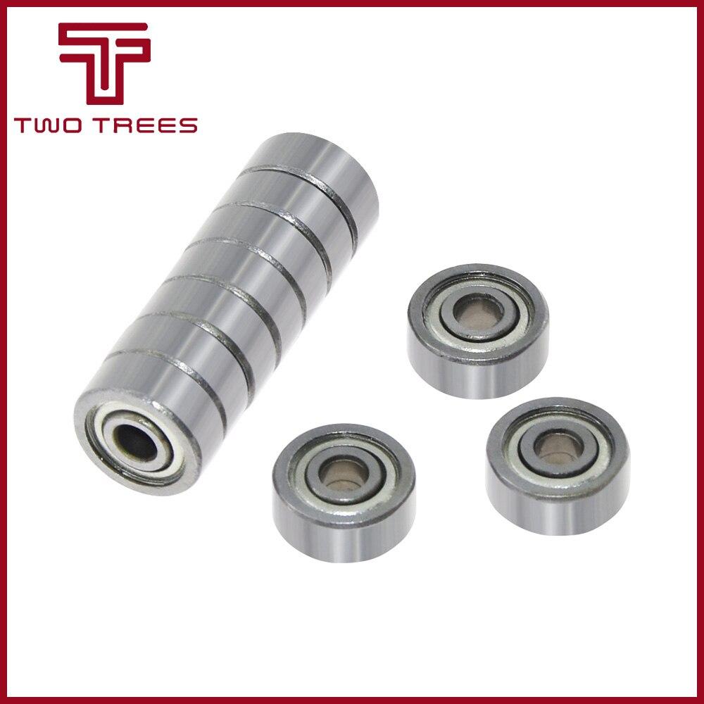 10 rodamientos de bolas unids/lote 623ZZ 3x10x4mm parte 623-ZZ rueda miniatura Ranura Profunda 3D piezas de impresoras 623 poleas ZZ acero inoxidable