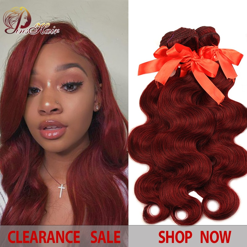 Burgundy Bundles 99J Hair Honey Blonde Red Hair Bundles Ombre Brazilian Body Wave Bundles Black 100 Human Hair Pinshair Non-remy