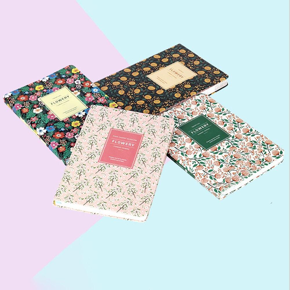 2020 planificador diario florido semanal A5 cuaderno tiempo Memo sin fecha planificación organizador de agendas suministros de papelería