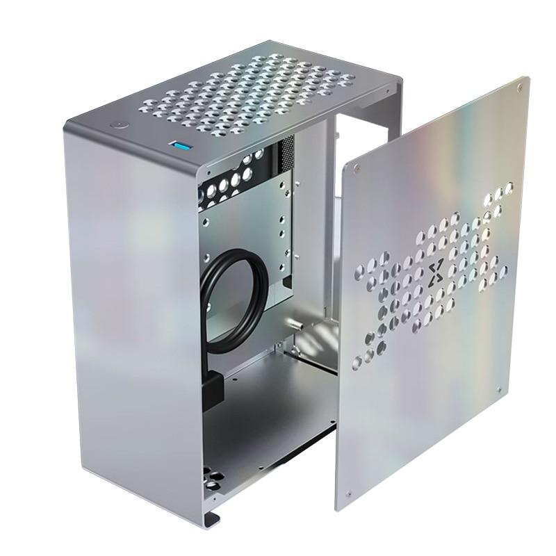 هيكل A4 جميع الألومنيوم حافظة صغيرة HTPC ITX فليكس باور USB3.0 195 مللي متر بطاقة جرافيكس K39 برو الكمبيوتر