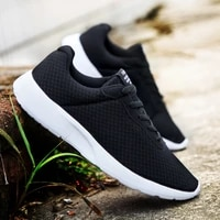 men breathable sports shoes male vulcanize mesh slip flat soled walking running sneakers casual lace up 35 46 sneakers