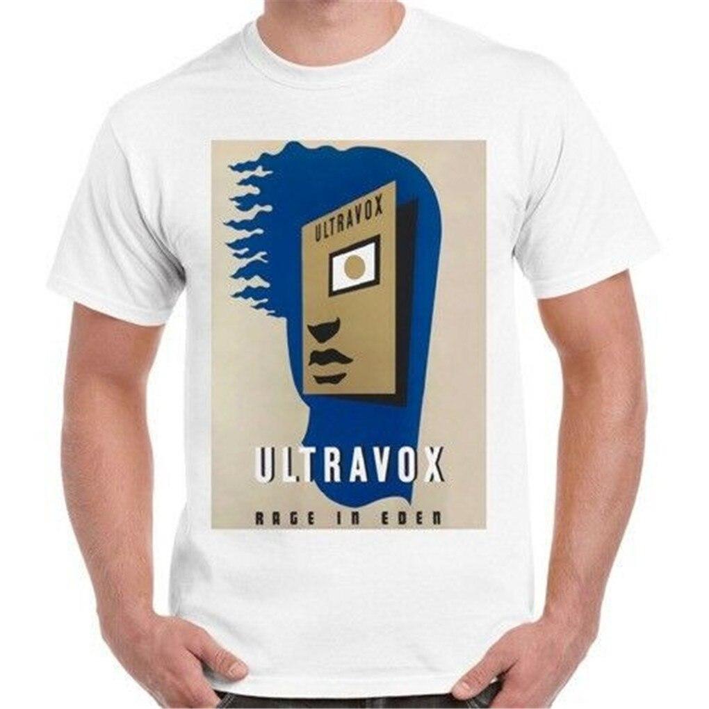 Ultravox rabia en Eden nueva ola Pop Retro T camisa 44 envío gratis Luz de camiseta