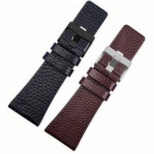 Men's universal genuine leather watchband for DZ7333 DZ1657 DZ4386 DZ4323 strap 22 24 26 28 30 32mm black brown watch bracelet