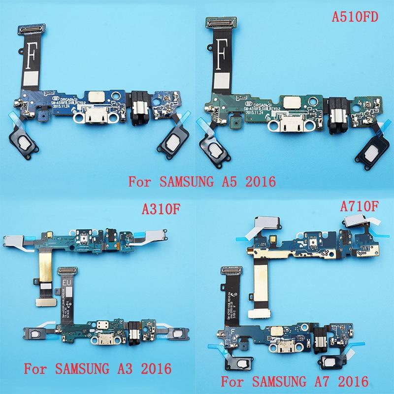 كابل USB مرن 50 قطعة ، لسامسونج A3 2016/A510F A5 2016/A510FD A7 2016/A710F ، قابس خلفي ، منفذ شحن ، كابل بديل