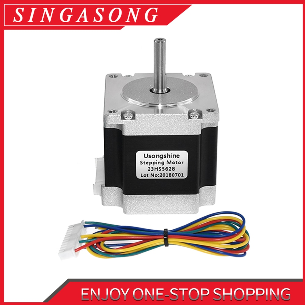 Nema23 23HS5628 4 Lead Nema 23 Stepper Motor 57 165 Oz-in 56mm 2.8A 6.35mm/8mm TB6600 CNC Laser Grin