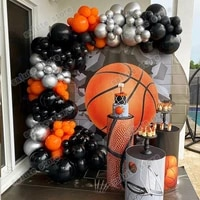 110pcs balloon black arch garland kit basketball party accessories bridal party decorations grand event st patricks day
