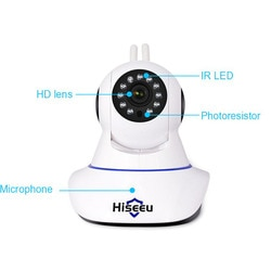 Hiseeu 1080P Night Vision Camera CCTV Camaras De Seguridad HD Camera Baby Monitor Mini Endoscópio Wifi Pan Tilt IP câmera Wi-fi 41