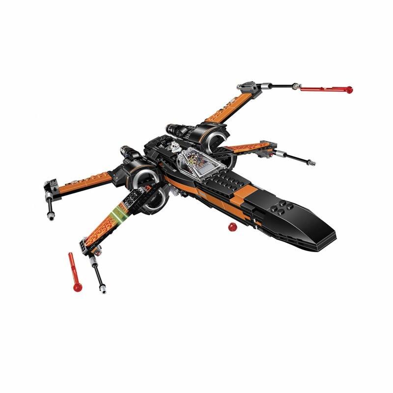 Fighter montado Bela 10466 Star Plan X Wings modelo Building educación en bloques juguetes para niños regalos compatibles con