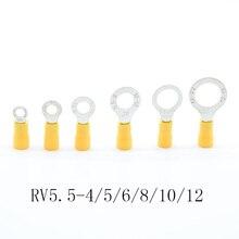 Terminal isolé anneau jaune   Connecteur de fil de câble, connecteur de câble, Terminal AWG, 10/12/5/6/8/, terminal à sertir, 4-6mm2 50 pièces/paquet