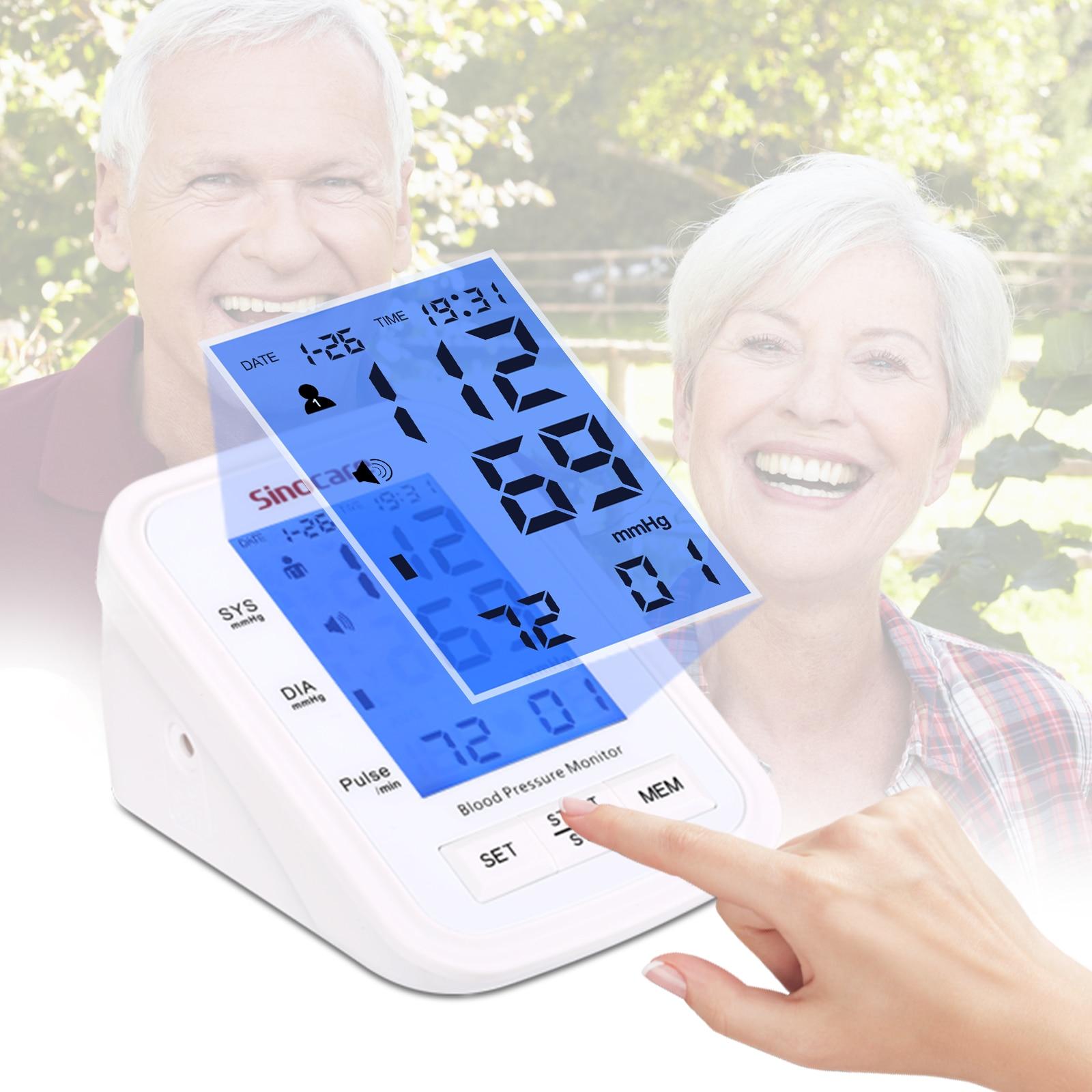 smart Arm Blood Pressure Monitor meter Cuff Medical Nurse Device Sphygmomanometer Blood Pressure Home Health Detector machine