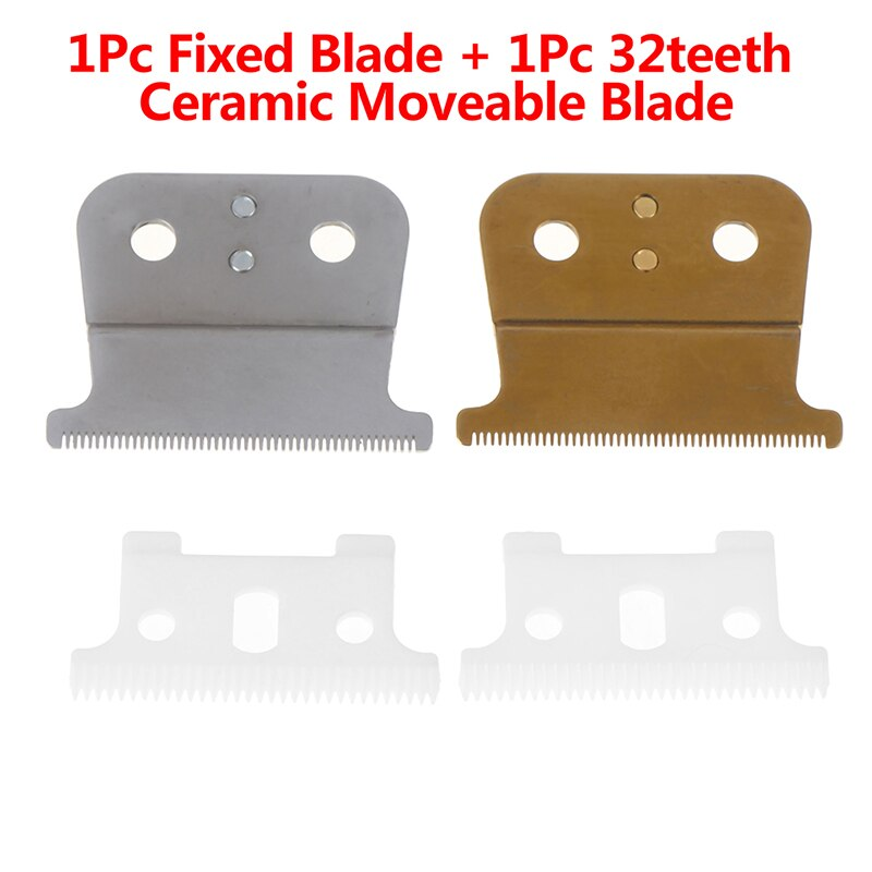 Hot Selling 2pcs/set Replacement T-Outliner Blade Trimmer 32 teeh Ceramic Moveable