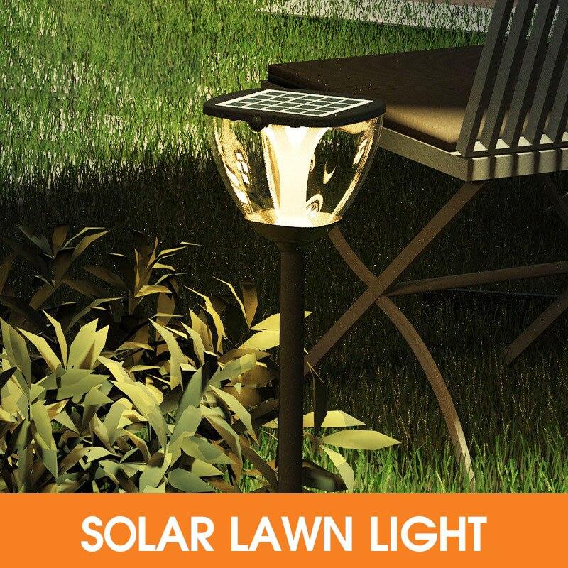 ip65 a prova dwaterproof agua conduziu a lampada do gramado ao ar livre solar luz