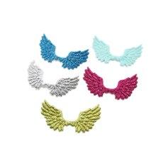 20 шт./лот 7*4,3 см блестящие нашивки с блестками в виде крыльев Ангела, аппликации для рукоделия, «сделай сам», детские заколки для волос, украшение для волос