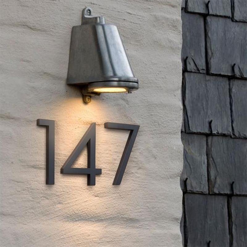 رقم منزل أسود كبير ، لافتة عائمة ، 15 سنتيمتر ، أرقام أبواب حديثة ، بناء ، لافتات خارجية ، مؤشر رقمي ، لوحة عنوان