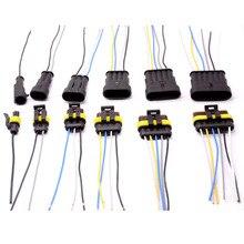 Fiche électrique étanche mâle et femme   Kit de connecteur automatique, 1 2P 3P 4P 5P 1.5, connecteur de fil de câble 14AWG