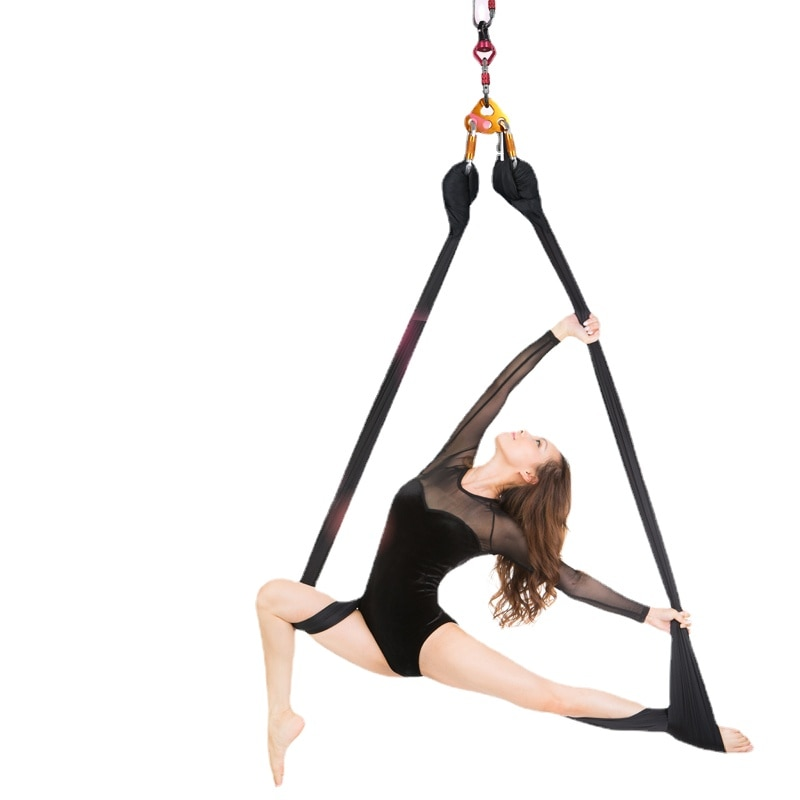 5M Aerial Yoga Hammock Household Yoga Micro Elastic Sling Hang Rope Yoga Stretch Belt For Yoga Studio Hamac Fitness Equipment
