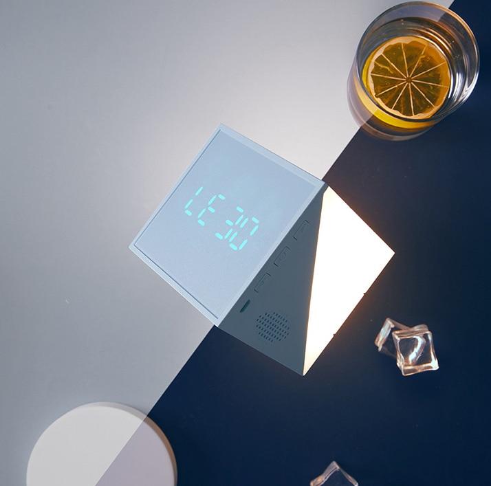 New Product Time Cube Alarm Clock Smart Creative Bedroom Bedside Multifunctional Sleeping Digital Alarm Clock LED Night Light