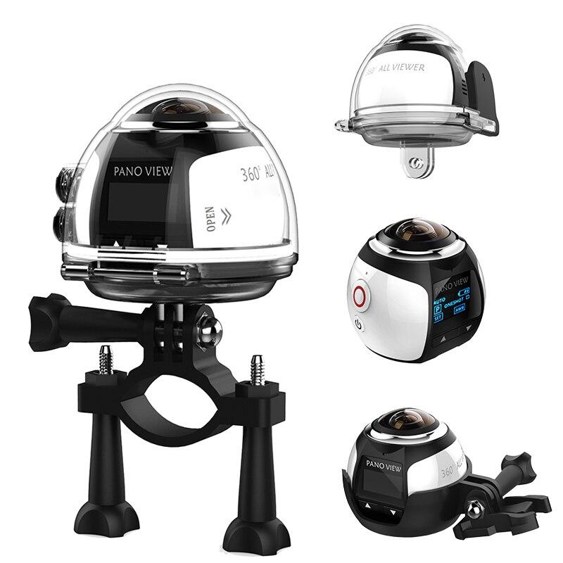4K 360VR Mini WIFI Action Camera 2448*2448 Ultra HD Mini Panorama Camera 360 Degree Sport Driving VR Camera HDV
