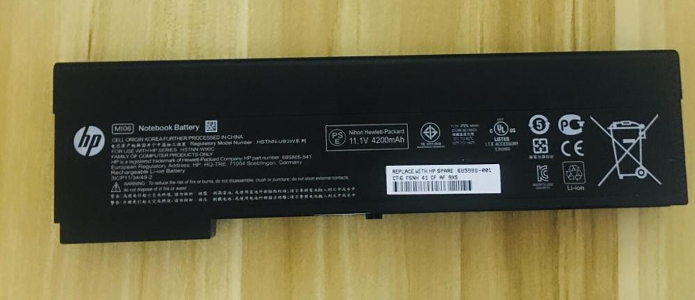 Nueva batería genuina para HP EliteBook 2170p H4A44AA, HSTNN-OB3L, HSTNN-UB3W, HSTNN-W90C, HSTNN-YB3L, HSTNN-YB3M, MI04, MI06, MIO4