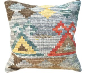 pillow case 60x60 Kilim   Cover  Cover Handmade Craft Gift Fleece  Couch Throw Interior Decoration