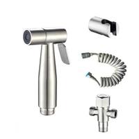 Pulverisateur manuel pour toilette bidet en acier inoxydable  pour salle de bain  kit hygienique  nettoyant pour tissu de couche bebe