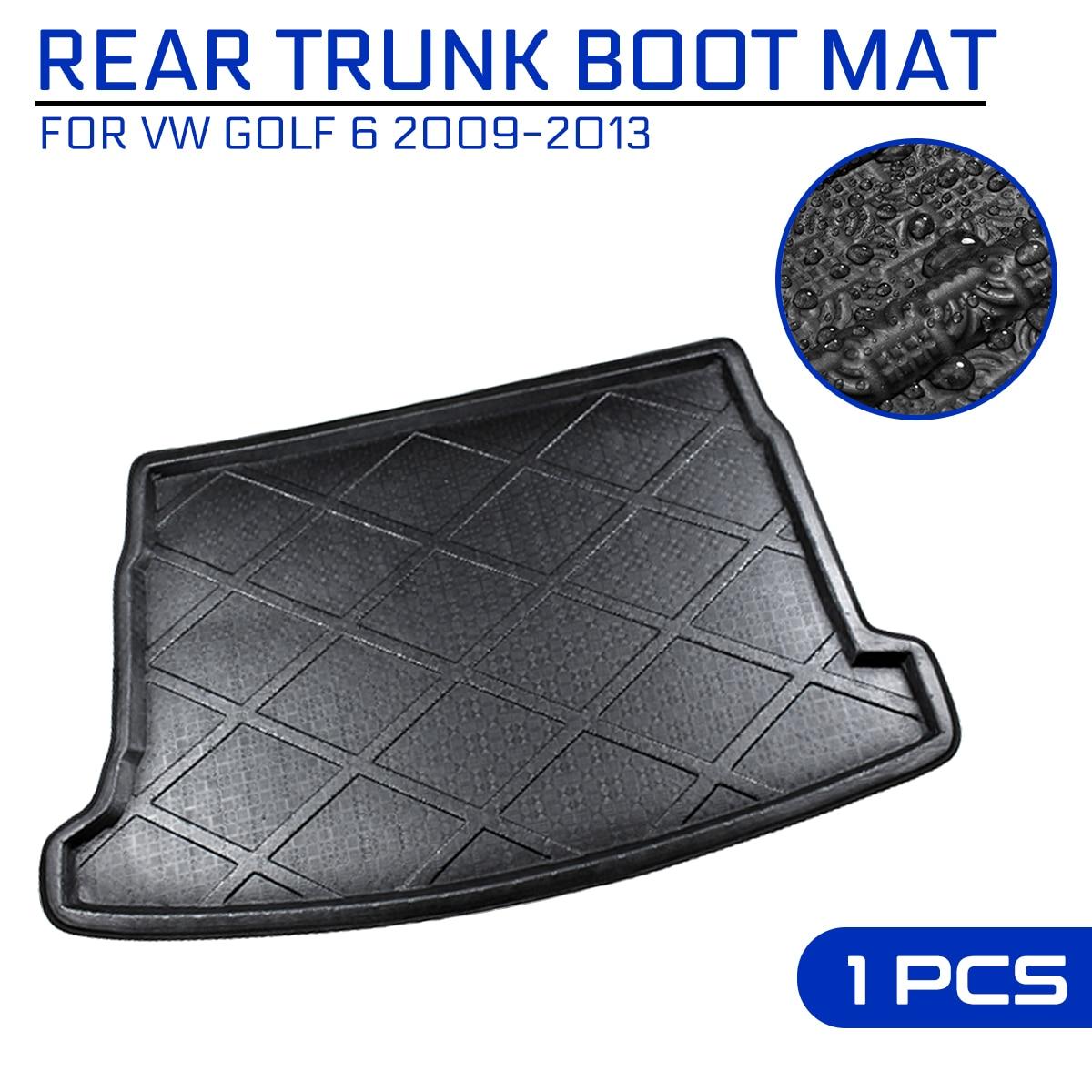 سيارة الخلفي الجذع مكافحة الطين غطاء سجادة أرضية لشركة فولكس فاجن جولف 6 2009-2013